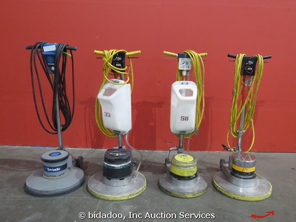 lot (4) tornado nss thoroughbred electric floor scrubber polisher