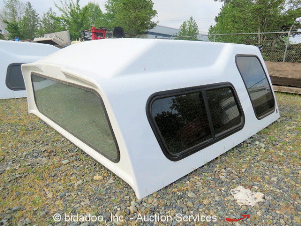 Fiberglass Camper Tops : Leer truck canopy camper cap shell privacy glass