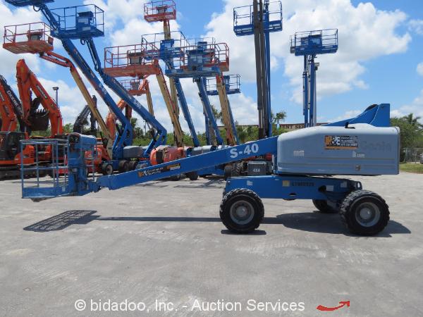 Single Man Lift 40 Ft : Genie s ft wd diesel articulating boom lift man