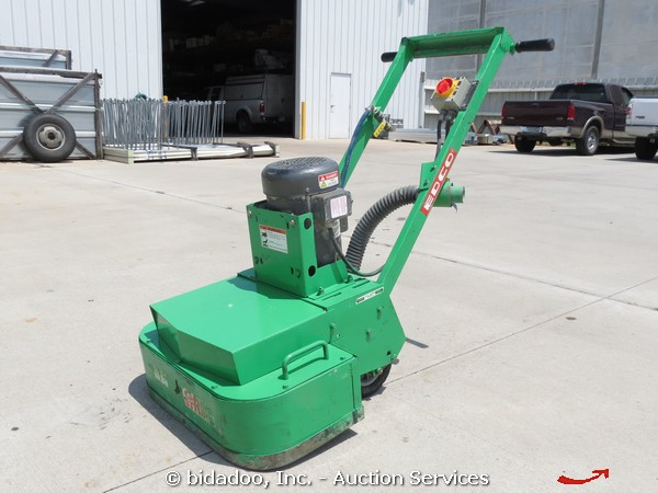 edco 2ec-1.5b dual disc electric concrete floor grinder w/ water
