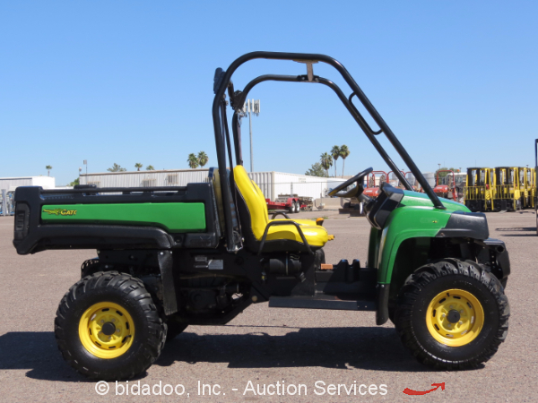 2011 john deere gator 855d 4wd xuv 854cc diesel utility cart utv dump bed ebay. Black Bedroom Furniture Sets. Home Design Ideas