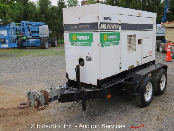 2003 Multiquip DCA-85SSJU 60 KW Towable Generator 82 KVA